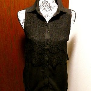🖤💋HP💋🖤Esley Black and Lace Collar Top